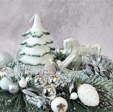 Svietidlá a sviečky - Svietnik 49 - vianočný - 12682560_