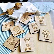 Hračky - Drevené pexeso . lesné zvieratká . AJ-SJ - 12681361_