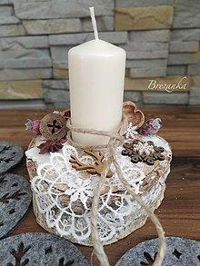 Svietidlá a sviečky - Zimný svietniček...jelenček... - 12679412_
