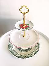 Nádoby - Etažér - vianočná ruža - 12680381_