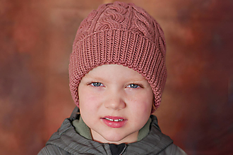 Detské čiapky - Hrubá merino čiapka na zimu - 12681542_