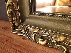 Zrkadlá - Zrkadlo v olivovo-zlatom ráme - 12681992_