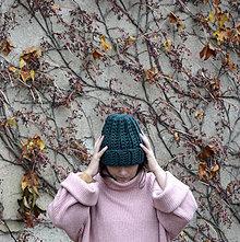 Čiapky - Vlnenka..lesná zelená - 12677612_