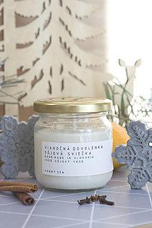 Svietidlá a sviečky - Vianočná DOVOLENKA - sójová vonná sviečka - 12677979_