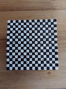 Drobnosti - Barbie podložka pod šálku: šachovnica 3x3 - 12678446_