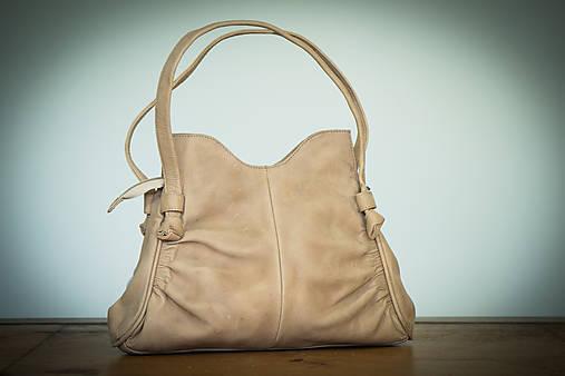 Kožená kabelka  (Hnedá)