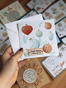 Papiernictvo - Vianočná pohľadnica Gule2 - 12683304_