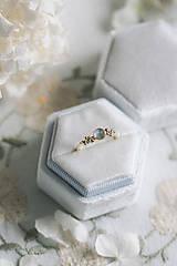 Prstene - Zlatý prsteň s mesačným kameňom - Bokeh Gold Moon - 12683283_