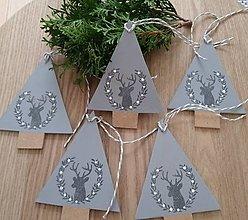 Dekorácie - Dekorácia stromček v šedom - 12682908_