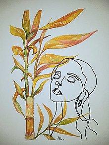 Obrazy - Palm bamboo - bambus šťastia - 12685820_