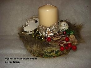 Svietidlá a sviečky - Vianočný svietnik - 12684091_