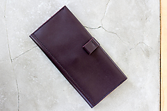 Peňaženky - kožená peňaženka_tmavobordová_street - 12687387_
