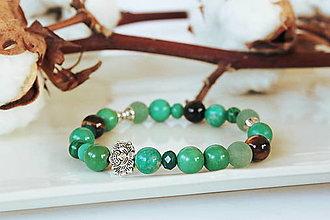 Náramky - Náramok z minerálov - zelený mix - 12686052_