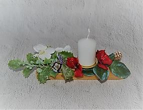Svietidlá a sviečky - Svietnik 50 - /aj/ vianočný - 12682589_