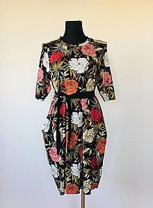 Šaty - Šaty s pivonkami - 12683652_