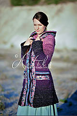 Kabáty - kabátik Violet spirit - 12686860_