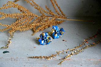 Náušnice - Ruže, Do zlata II., visiace náušnice, fimo - 12683597_