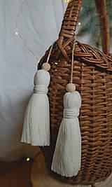 Dekorácie - Makramé dekoračné strapce (VEĽKÉ) - 12686709_