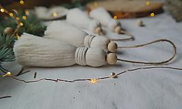 Dekorácie - Makramé dekoračné strapce (VEĽKÉ) - 12686711_