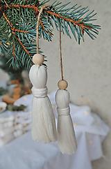 Dekorácie - Makramé dekoračné strapce (MALÉ) - 12686720_