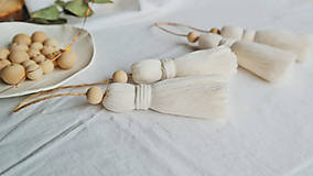 Dekorácie - Makramé dekoračné strapce (MALÉ) - 12686721_