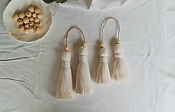 Dekorácie - Makramé dekoračné strapce (MALÉ) - 12686722_