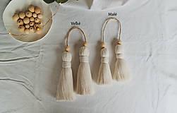 Dekorácie - Makramé dekoračné strapce (MALÉ) - 12686723_