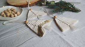 Dekorácie - Macramé vianočná ozdoba - stromček - 12686767_