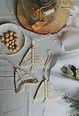 Dekorácie - Macramé vianočná ozdoba - stromček - 12686768_
