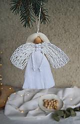 Dekorácie - Macramé vianočný Anjel - 12687022_