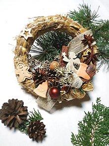 Dekorácie - Slamený veniec - vianoce d18 - 12682663_
