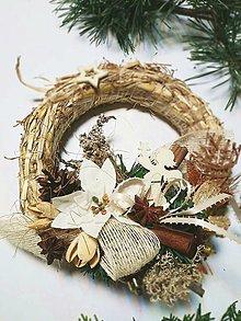 Dekorácie - Slamený veniec - vianoce d19 - 12682666_