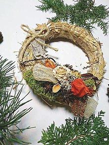 Dekorácie - Slamený veniec - vianoce d20 - 12682675_