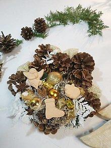 Dekorácie - Šiškový veniec - vianoce d21 - 12685285_
