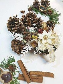 Dekorácie - Šiškový veniec - vianoce d24 - 12685384_