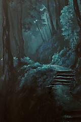 Obrazy - Zahmlený magický les - Originál Maľba - 12684493_