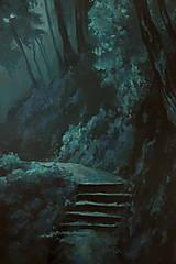 Obrazy - Zahmlený magický les - Originál Maľba - 12684498_