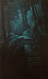 Obrazy - Zahmlený magický les - Originál Maľba - 12684507_