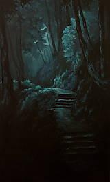 Obrazy - Zahmlený magický les - Originál Maľba - 12684509_