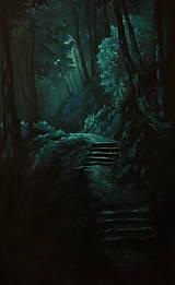 Obrazy - Zahmlený magický les - Originál Maľba - 12684521_