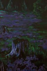 Obrazy - Levanduľová lúka uprostred lesa - Originál Maľba - 12684758_