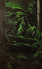 Obrazy - V hĺbke zamatového lesa - Originál Maľba - 12684779_