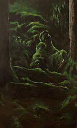 Obrazy - V hĺbke zamatového lesa - Originál Maľba - 12684853_