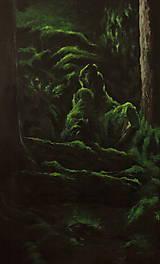 Obrazy - V hĺbke zamatového lesa - Originál Maľba - 12684885_