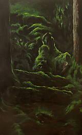 Obrazy - V hĺbke zamatového lesa - Originál Maľba - 12684887_