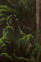 Obrazy - V hĺbke zamatového lesa - Originál Maľba - 12684914_