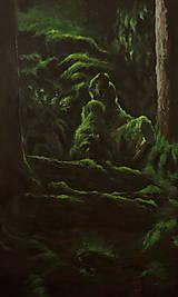 Obrazy - V hĺbke zamatového lesa - Originál Maľba - 12684923_