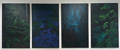 Obrazy - V hĺbke zamatového lesa - Originál Maľba - 12685190_