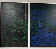 Obrazy - Levanduľová lúka uprostred lesa - Originál Maľba - 12685197_