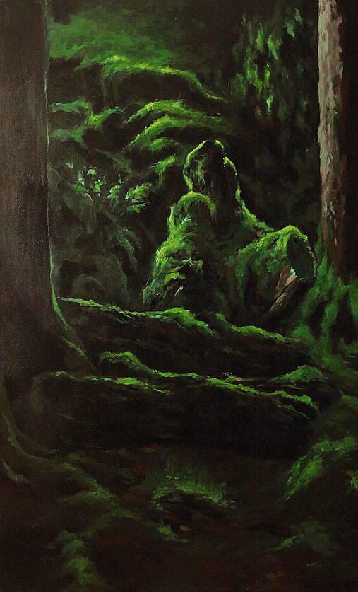 V hĺbke zamatového lesa - Originál Maľba